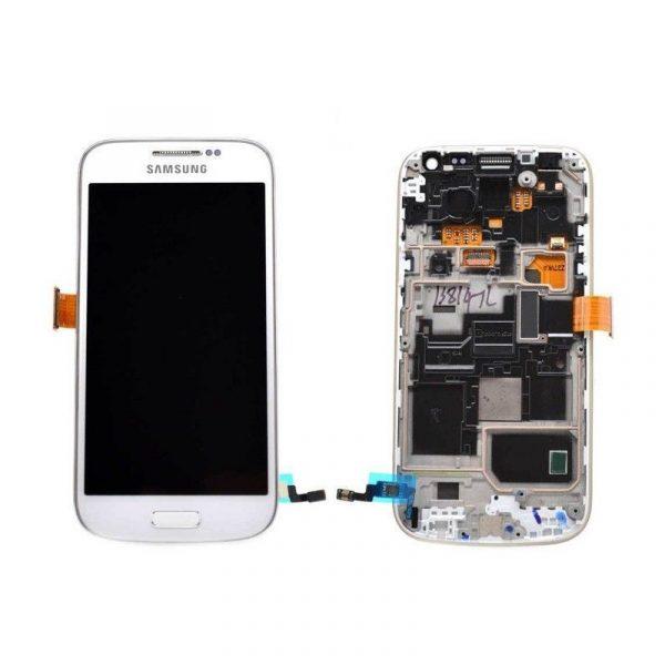 225bd95a42d Pantalla Completa LCD Y Táctil Con Marco para Samsung Galaxy S4 Mini I9190  I9195 – Blanco