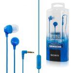 Auriculares Intrauditivos (In-Ear) Stereo Con Micrófono Y Deporte Confortable Fit Marca SONY MDREX15APLIC(UC) De 1.2M - Azul