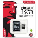Tarjeta Memoria De Kingston microSD de 16GB Clase 10