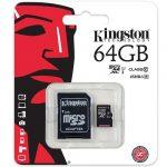 Tarjeta Memoria De Kingston microSD de 64GB Clase 10