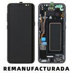 Pantalla Completa Reparada LCD Y Táctil Con Marco para Samsung G950f Galaxy S8 - Negro Remanufacturada