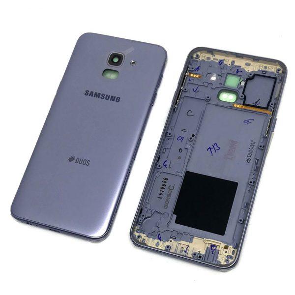 c12e06728c7 Tapa Trasera De Batería para Samsung Galaxy J6 2018 J600F - Lila ...