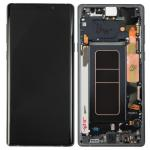 Pantalla Completa Reparada LCD Y Táctil Con Marco para Samsung N960f Galaxy Note 9 - Negro Cambiado Cristal