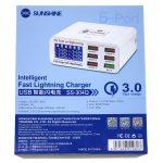 Cargador USB Multipuerto De Carga Inteligente SUNSHINE SS-304Q Hasta 17.5W QC3.0 (6 Puertos) (2)