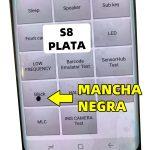 PM15 Pantalla Completa LCD Y Táctil Con Marco para Samsung Galaxy S8 G950F - Negro Con Mancha Plata