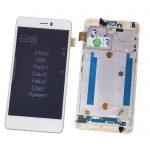 Pantalla Completa Original Con Marco LCD Y Táctil para BQ Aquaris U Plus - Blanco