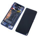 Pantalla Completa LCD Y Táctil Con Marco Y Piezas para Huawei Mate 20 Pro - Azul Original (Service Pack)