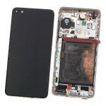 Pantalla Completa LCD Y Táctil Con Marco Y Piezas para Huawei P40 - Plata Original (Service Pack)
