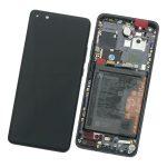 Pantalla Completa LCD Y Táctil Con Marco Y Piezas para Huawei P40 Pro - Negro Original (Service Pack)