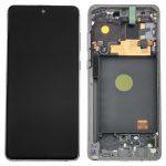 Pantalla Completa LCD Y Táctil Original Con Marco para Samsung Galaxy Note 10 Lite (2020) N770F - Plata