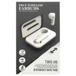 [TWS-06] Auriculares Inalámbricas TWS BT5.0 De 35mAh Con Estucho De Carga 300mAh - Negro