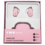 [WF-950BT] Auriculares Inalámbricas TWS BT5.0 De 55mAh Con Estucho De Carga 450mAh - Rosa