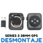 Carcasa para Apple Watch Series 3 38mm A1860 A1889 A1890 (3rd Gen) - Negro GPS De Desmontaje