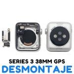 Carcasa para Apple Watch Series 3 38mm A1860 A1889 A1890 (3rd Gen) - Plata GPS De Desmontaje