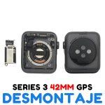 Carcasa para Apple Watch Series 3 42mm A1859 A1861 A1891 A1892 (3rd Gen) - Negro GPS De Desmontaje