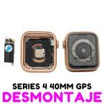 Carcasa para Apple Watch Series 4 40mm (A1977 A1975 A2007) (4th Gen) - Oro GPS De Desmontaje