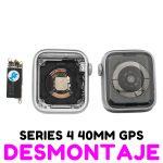 Carcasa para Apple Watch Series 4 40mm (A1977 A1975 A2007) (4th Gen) - Plata GPS De Desmontaje