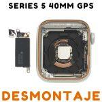 Carcasa para Apple Watch Series 5 40mm (A2092) (4th Gen) - Plata GPS De Desmontaje