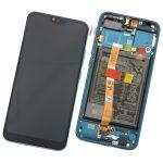 Pantalla Completa LCD Y Táctil Con Marco Y Piezas para Huawei Honor 10 - Azul Verde Original (Service Pack)