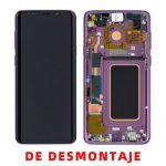 Pantalla Completa LCD Y Táctil Original para Samsung Galaxy S9 G960F - Morado De Desmontaje