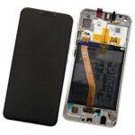 Pantalla Completa Original LCD Y Táctil Con Marco para Huawei P Smart Plus Nova 3i - Plata (Service Pack)