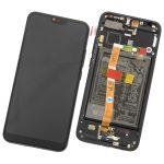 Pantalla Completa LCD Y Táctil Con Marco Y Piezas para Huawei Honor 10 - Negro Original (Service Pack)