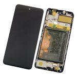 Pantalla Completa Original LCD Y Táctil Con Marco para Huawei P Smart 2021- Negro (Service Park)