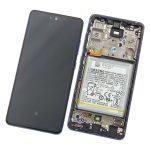 Pantalla Completa LCD Y Táctil Original Con Marco para Samsung Galaxy A52 (5G) 2021 A526F - Morado