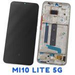 Pantalla Completa LCD Y Táctil Con Marco para Xiaomi Mi10 Lite (5G) - Plata