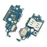 Placa De Conector De Carga USB Tipo-C Con Micrófono Y Lector De SIM para Samsung Galaxy S21 5G G991B