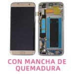 Pantalla Completa LCD Y Táctil Con Marco para Samsung Galaxy S7 Edge G935f – Oro Con Mancha De Quemadura