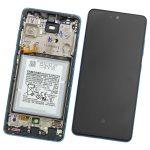 Pantalla Completa LCD Y Táctil Original Con Marco para Samsung Galaxy A52 A525F A52 (5G) 2021 A526B – Azul