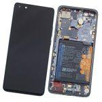 Pantalla Completa LCD Y Táctil Con Marco Y Piezas para Huawei P40 Pro Plus – Negro Original (Service Pack)