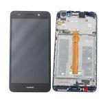 Pantalla Completa Original Con Marco LCD Y Táctil para Huawei Y6 II 2016 – Negro (Service Pack) Sin Batería
