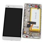 Pantalla Completa Original LCD Y Táctil Con Marco para Huawei P8 Lite - Blanco (Service Park) Con Batería