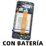 Pantalla Completa Original LCD Y Táctil Con Marco para Samsung Galaxy A12 (2020) A125F – Negro Con Batería