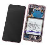 Pantalla Completa LCD Y Táctil Original para Samsung Galaxy S21 5G G991B – Rosa