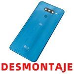 Tapa Trasera Con Lente De Cámara para LG Q60 – Azul De Desmontaje